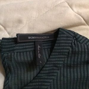 Black and green stripes BCBG dress size Large